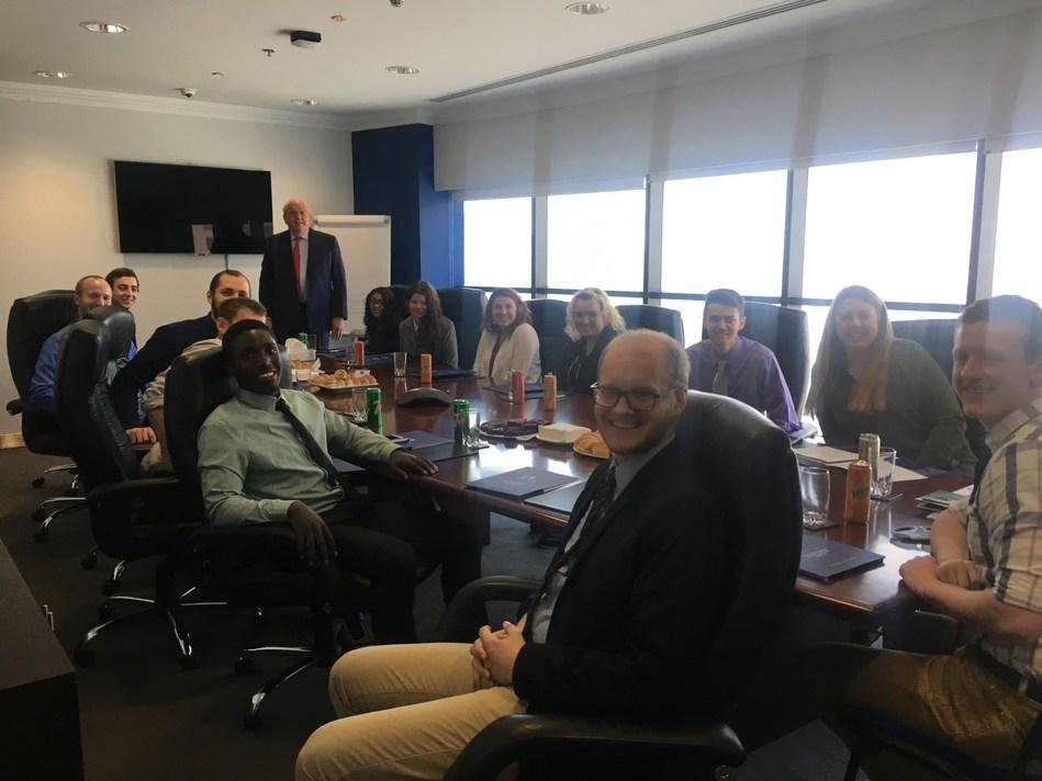 CEO Bob Parker addresses the visiting Cornerstone University students (PRNewsFoto/Holborn Assets)
