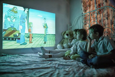 CINEMOOD, Mini Cinema for Families With Kid-Friendly Preloaded Content, Showcasing at CES 2017