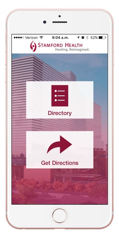 The Stamford Health Find My Way application helps patients and visitors get to their destinations with end-to-end outdoor and indoor wayfinding, along with features like Parking Planner and My Car Saver to make their visit more efficient and stress-free.