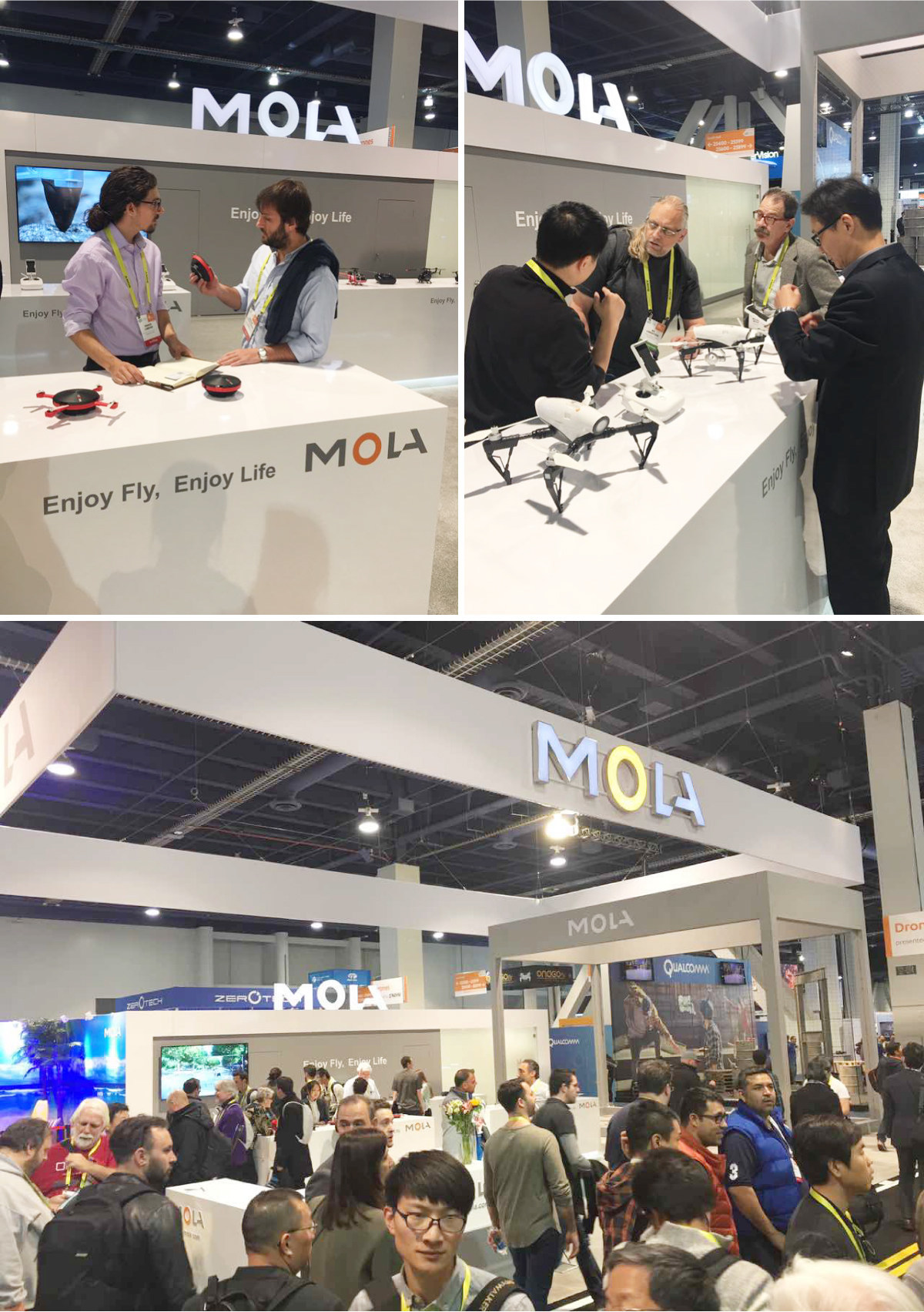 Nine Eagles -- MOLA booth at the 2017 CES
