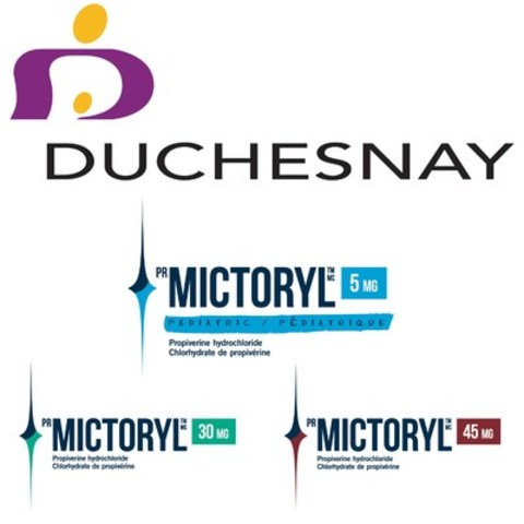Logo: Duchesnay inc., Mictoryl®/Mictoryl® Pediatric (CNW Group/Duchesnay inc.)