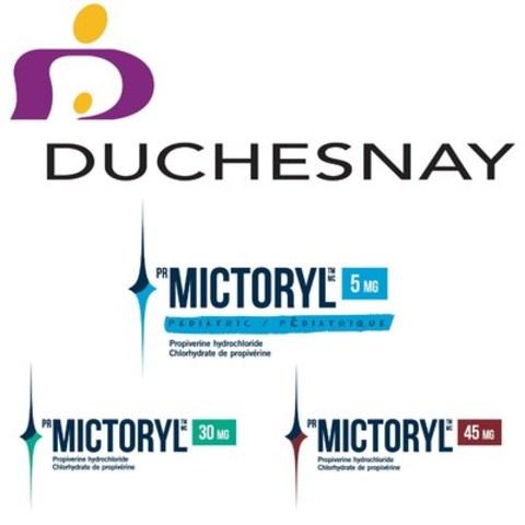 Logo : Duchesnay inc., Mictoryl®/Mictoryl® Pédiatrique (Groupe CNW/Duchesnay inc.)