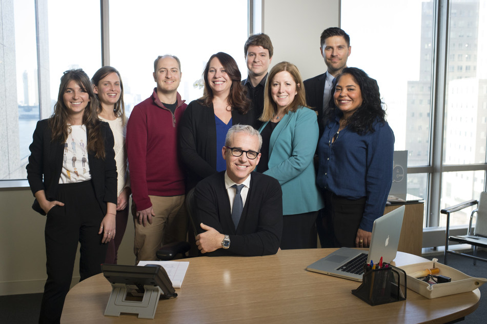 Jess Cagle with his People Magazine team.