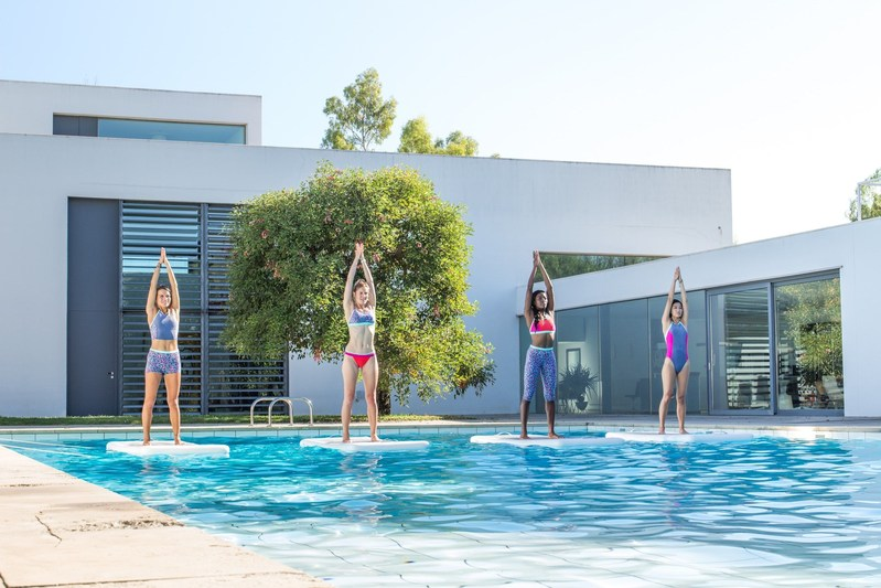 Speedo Joins Forces with Aquaphysical and International Fitness Enthusiasts to Launch New Multi Functional Collection. (PRNewsFoto/Speedo)