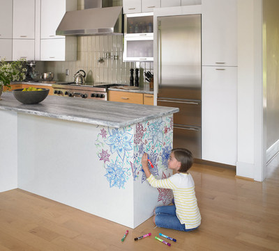 Formica Corporation, the inventor of laminate, brings surfaces to life with the introduction of Formica(R) Writable Surfaces, offering beautiful and durable chalkboard and markerboard surfacing options. Formica(R) Writable Surfaces give homeowners the ability to create expressions of love, life, friendship and personality - literally on surfaces that make up their homes. The collection is offered in a variety of fresh designs suitable for horizontal or vertical surfaces in any room of the home.