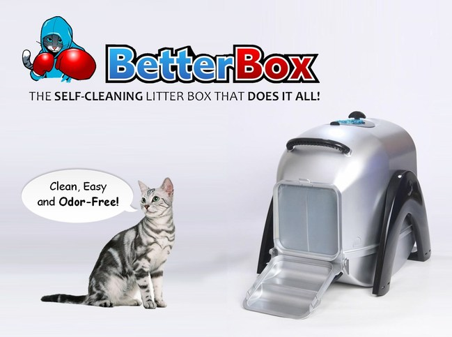 BetterBox is the first kitty litter box of its kind. The design is modeled around keeping a sealed enclosure around the waste throughout the maintenance operations. This clean, easy, and odor-free strategy also protects users from exposure to Toxoplasmosis. Cat owner's can pre-order this product starting January 10, 2017 at www.betterboxllc.com