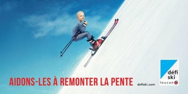 Aidons-les à remonter la pente : Une invitation à soutenir les enfants atteints de cancer lors du Défi ski Leucan (Groupe CNW/Leucan)