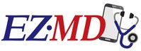 EZMD Logo is descriptive of technology advanced healthcare.  Members have a doctor in their pocket with 24-7 access to a doctor - Anytime, from Anywhere.