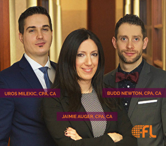 FL Fuller Landau SENCRL nomme trois nouveaux associés : Uros Milekic (CPA,CA), Jaimie Auger (CPA, CA) et Budd Newton (CPA,CA) (Groupe CNW/FL Fuller Landau SENCRL)