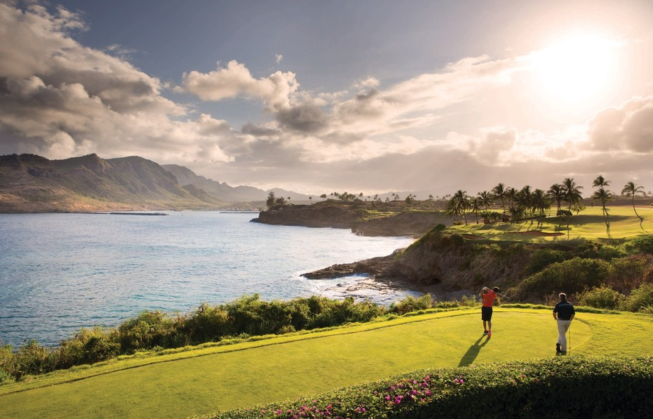 The Ocean Course at Hokuala, an award-winning Jack Nicklaus Signature Golf Course featuring the longest stretch of continuous oceanfront holes in Hawaii