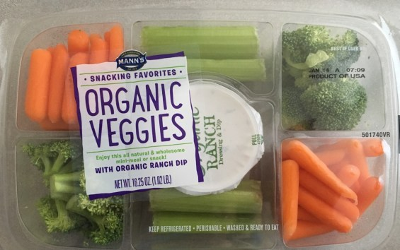 Front View of Organic Veggie Tray