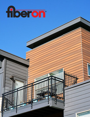 Fiberon Composite Cladding gives a warm wood-like appearance.