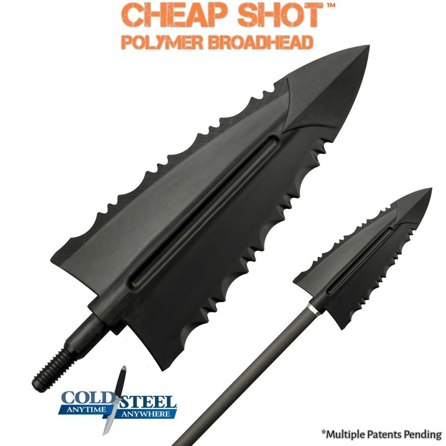 Cold Steel's Cheap Shot Polymer Broadhead- Available in 125 grain and 100 grain.