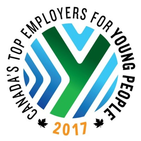 """Recognizing tomorrow's disruptors today: Winners of the 2017 """"Canada's Top Employers for Young People"""" competition are announced (CNW Group/Mediacorp Canada Inc.)"""