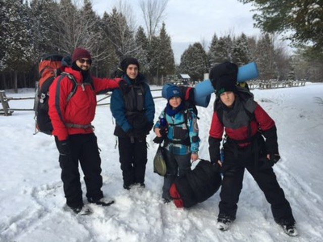 Members of Scouts Canada embark on a winter camping adventure. Photo courtesy of Scouts Canada. (CNW Group/Scouts Canada)