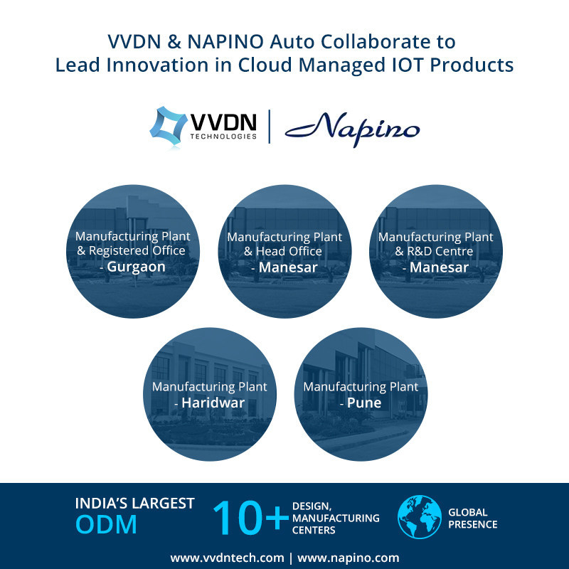 VVDN and NAPINO Auto Collaborate to Lead Innovation in Cloud Managed IOT Products (PRNewsFoto/VVDN Technologies)