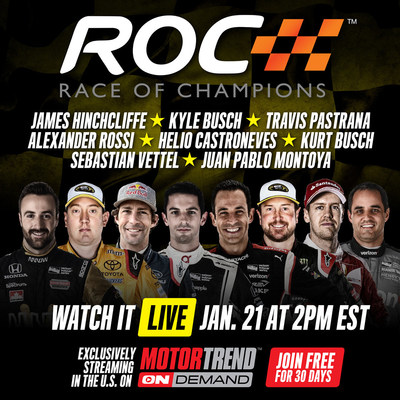 Motor Trend OnDemand and Race Of Champions partner to bring racing action online