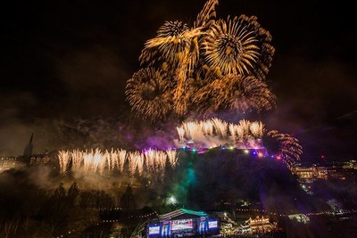 Edinburgh's Hogmanay Midnight Moment launches Edinburgh's Festivals 70th Anniversary in 2017  (C) Keith Valentine (PRNewsFoto/Edinburgh's Festival)