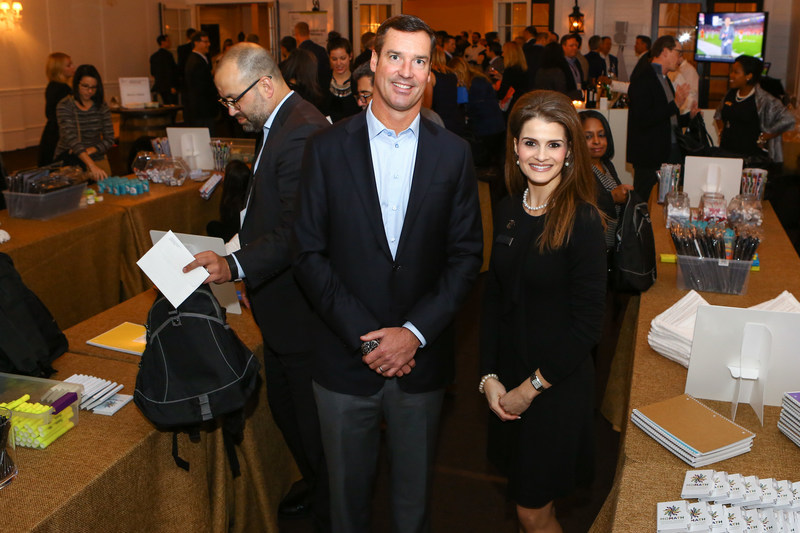 John McDonough, Head of Distribution and Marketing, OppenheimerFunds, and Charlene DuPlessis, Boys & Girls Club of Metro Atlanta's Senior Director of Corporate Parnterships