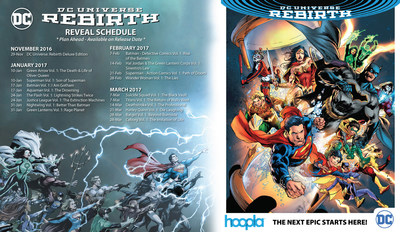 DC Entertainment's best-selling 'DC Universe Rebirth' comic collections arrive on hoopla digital.