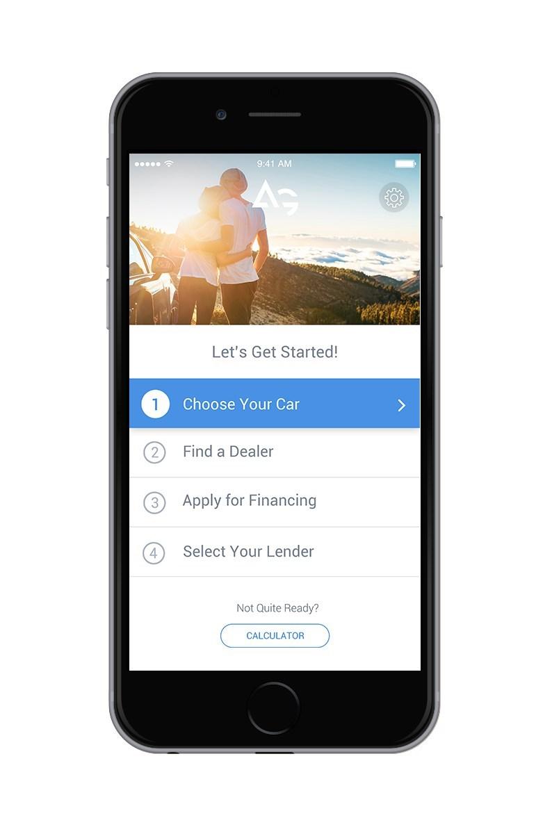 Choose your car on the AutoGravity platform