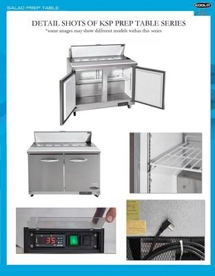 Detailed Images of the Ikon KSP Series Sandwich & Salad Prep Tables