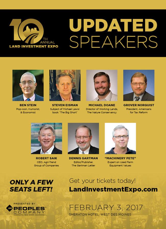 Grover Norquist Joins Ben Stein, Steve Eisman at Land Investment Expo Next Month