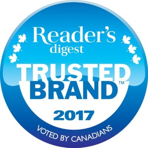 Reader's Digest Trusted Brand™ 2017 Seal (CNW Group/Reader's Digest)