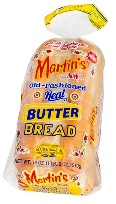 Martin's uses only the best ingredients, such as high protein wheat flour, nonfat milk, real butter, pure cane sugar, and other high-quality ingredients, to make this great-tasting, soft, gratifying Old-Fashioned Real Butter Bread. Using 100 percent real butter without any additional oils is what earns Martin's Old-Fashioned Real Butter Bread its name.
