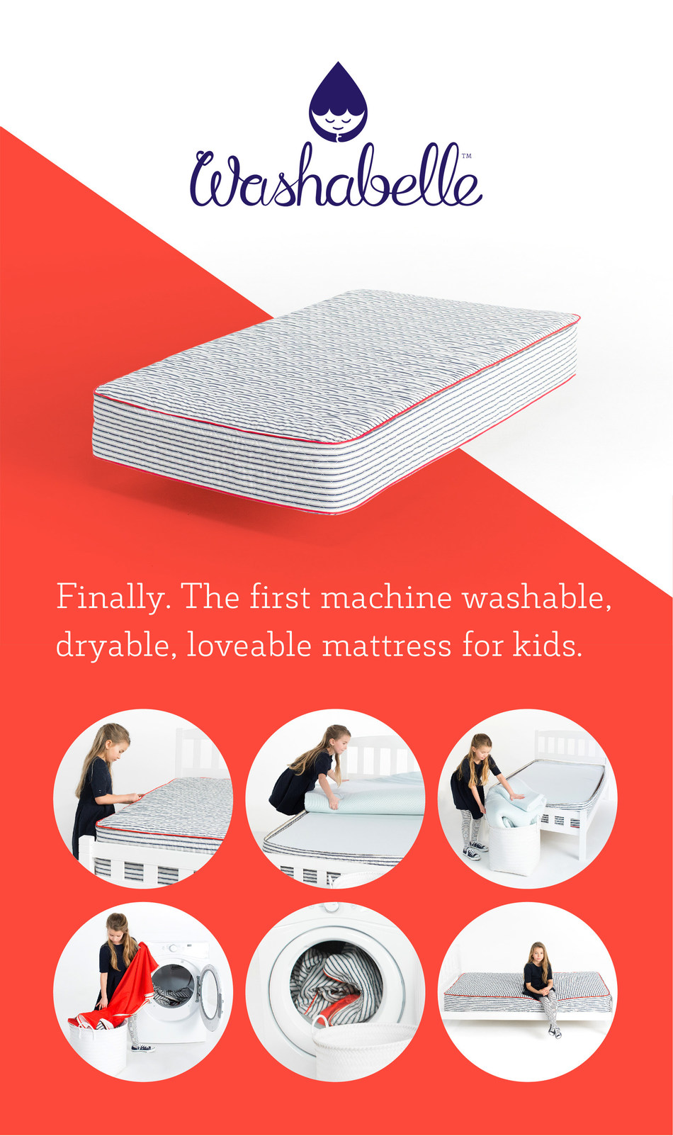 Mom invents machine washable mattress for kids