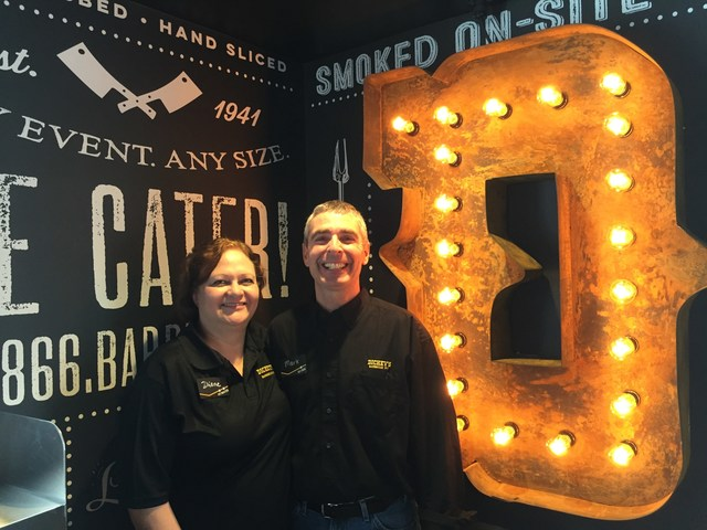 Mark and Diane Engberson open their newest Dickey's Barbecue Pit location in Coeur d'Alene.