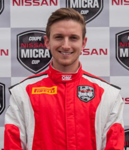 Stefan Rzadzinski, pilote canadien de la Coupe Nissan Micra (Groupe CNW/Nissan Canada Inc.)