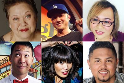 Top row -- L to R: Amy Hill, Paul Kim, Robin Tran Bottom row -- L to R: Kevin Yee, Atsuko Okatsuka, Joey Guila