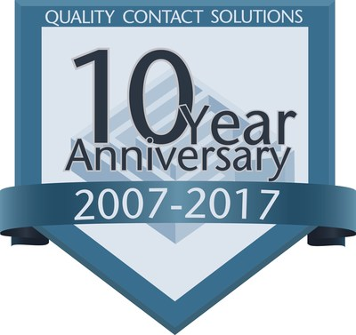 Quality Contact Solutions 10-year anniversary badge 2007-2017