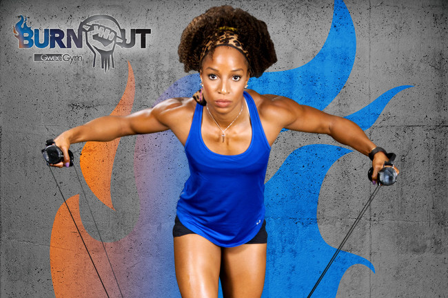 Burnout by Gwee Gym....Inspired by Natasha Hastings: Gold Medalist & USA Track and Field Champion.