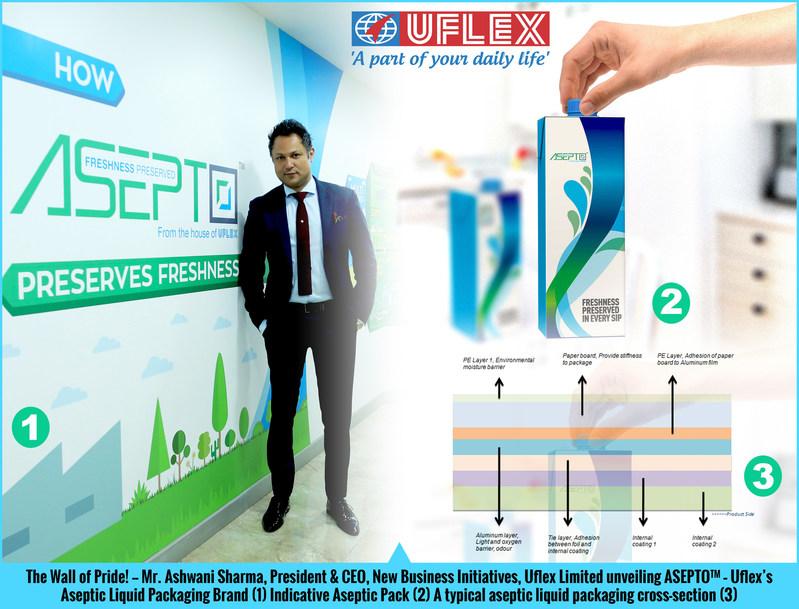 Uflex unveils 'ASEPTO' - its much-awaited Aseptic Packaging Brand (PRNewsFoto/Uflex)
