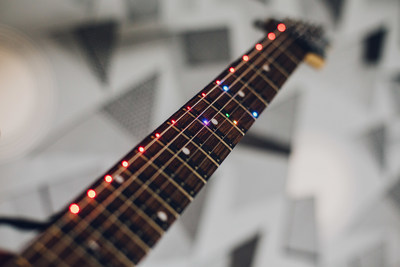 Fret Zeppelin - Full Spectrum LED Learning and Display System for Guitars