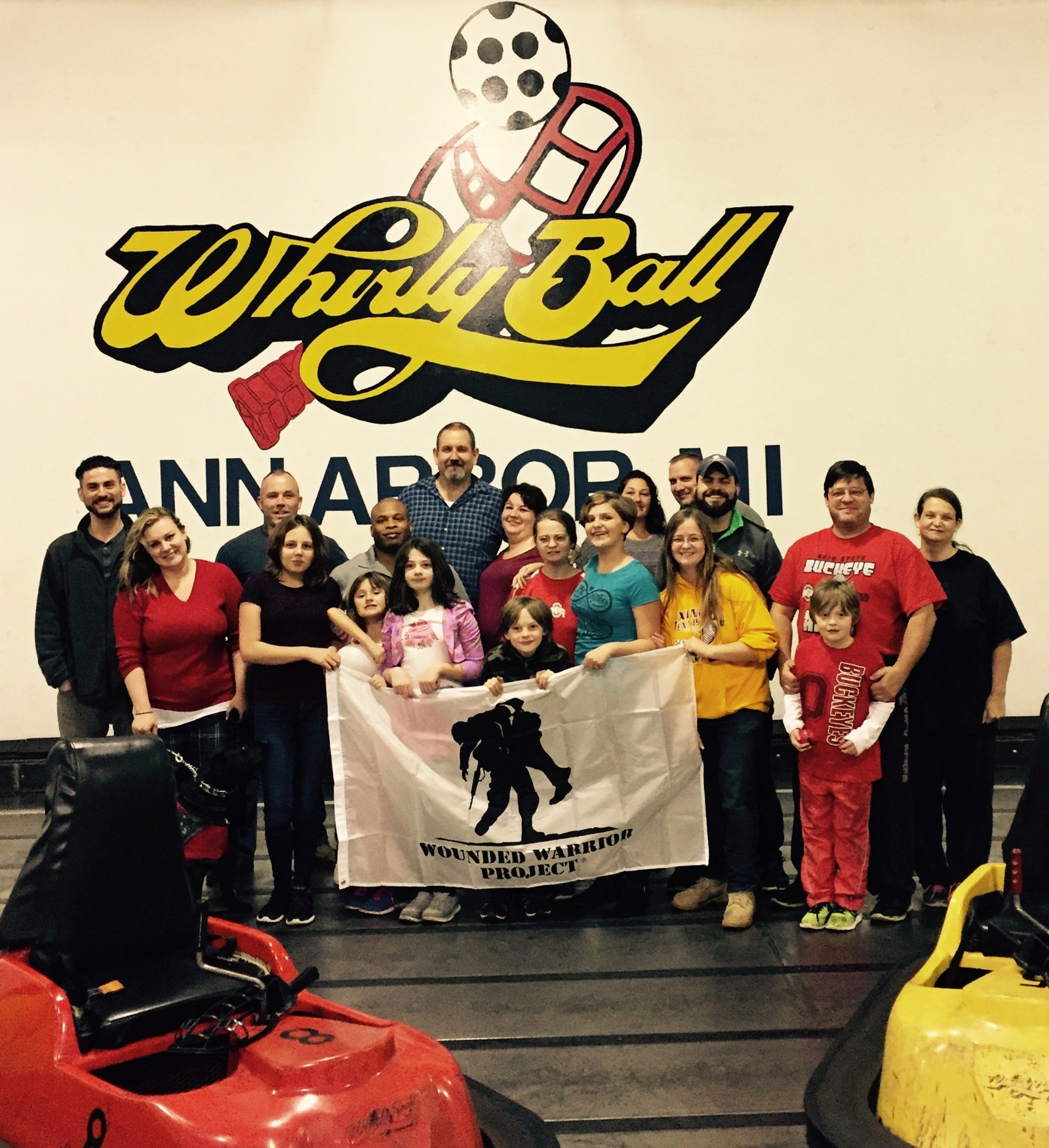 During a recent Wounded Warrior Project(R) (WWP) outing, a group of injured veterans and family members tried their hands at the truly unique game of Whirlyball.