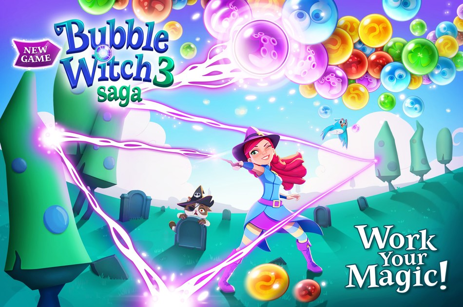 Bubble Witch 3 Saga Launches Worldwide on Mobile