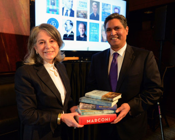 Noreen Taylor and Vijay Parmar, President of RBC PH&N Investment Council  at the RBC Charles Taylor Prize short list announcement, King Edwards Hotel Jan 11. photo Tom Sandler (CNW Group/RBC Taylor Prize)