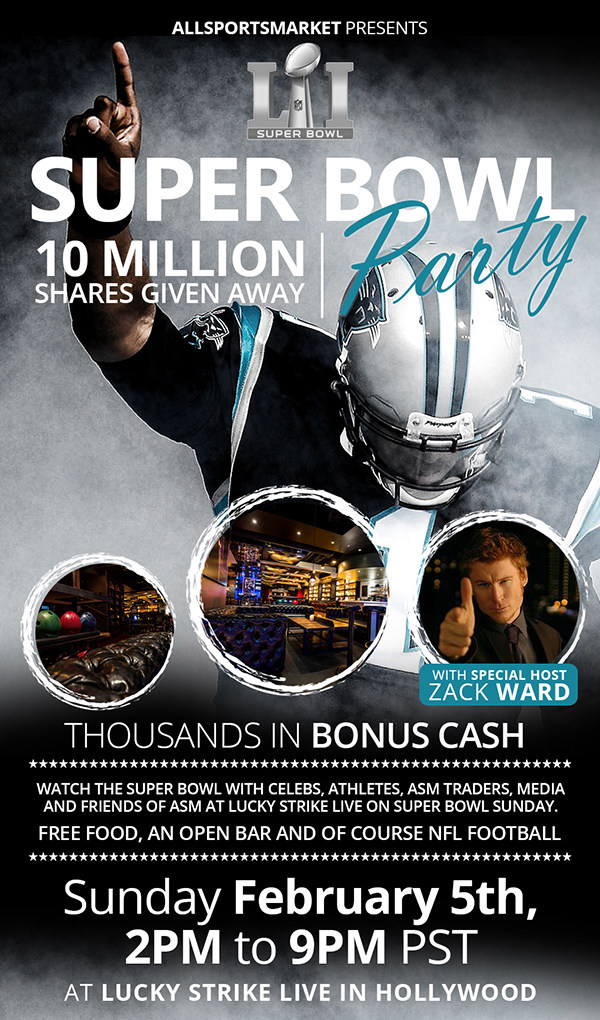 AllSportsMarket (ASM) 2017 Super Bowl Party at Lucky Strike Live in Hollywood