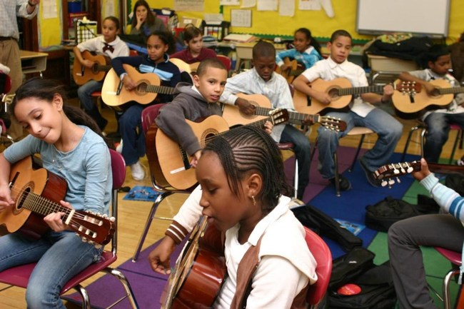 Little Kids Rock Students Practicing