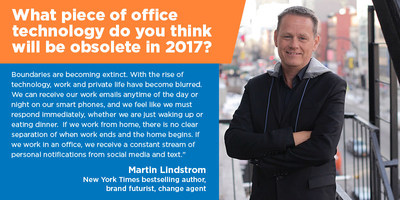 Fit Small Business: Martin Lindstrom offers his insights into what the office environment will look like in 2017