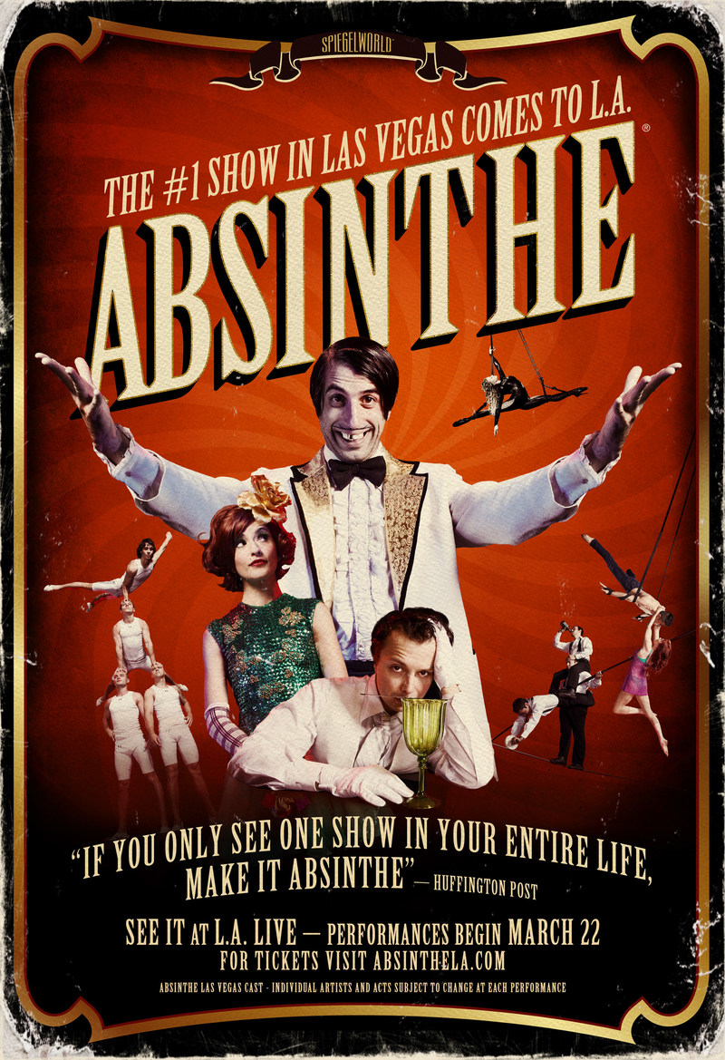 Absinthe at L.A. LIVE, Starting March 22