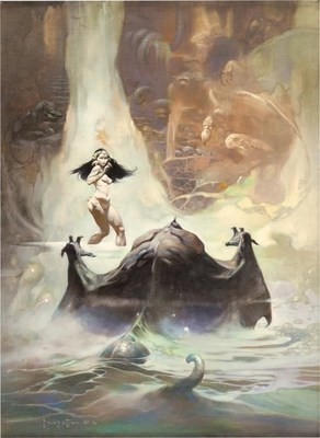 """Heritage Auctions sold Frank Frazetta's """"At The Earth's Core"""" for a record $1,075,500."""