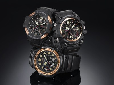 The Vintage Rose Gold Master of G Series: GRAVITYMASTER (GA1100RG-1A), MUDMASTER (GG1000RG-1A) and GULFMASTER (GN1000RG-1A)