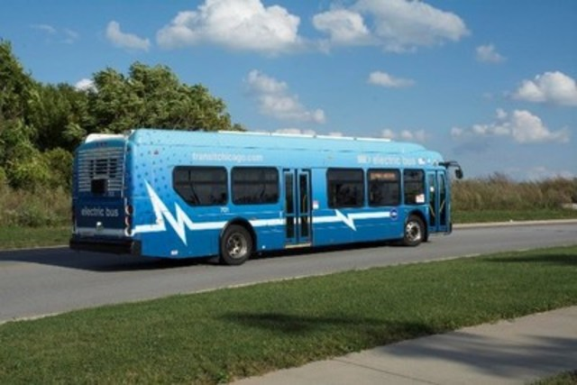 Chicago Transit Authority XE40 Battery-Electric (CNW Group/New Flyer Industries Inc.)