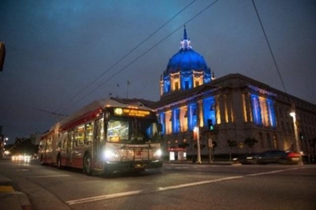 San Fransisco MUNI XT60 Trolley-Electric (CNW Group/New Flyer Industries Inc.)