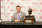 Dabo Swinney Of Clemson Named American Heart Association's 2016 Paul