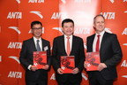 "James Zheng, Executive Director at ANTA Sports and Brand President of ANTA (Center), Jim Lam, CFO at ANTA Sports (Left), and  Rob Koepp, Director at ECN (Right) participated the launch of China sports market research report ""China Gets Its Game On"" (PRNewsFoto/ANTA Sports Products Limited)"